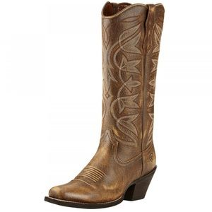 Ariat Brown Round Up Leather Cowgirl Western Boots